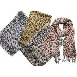 Leopard Motif Summer Scarf