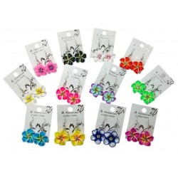 Fimo Flower Earrings
