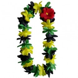 Green, Yellow & Black Lei