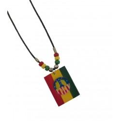 American Peace Sign Rasta Pendant Necklace