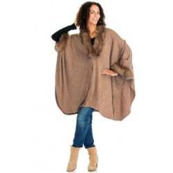 Rosy Brown Ladies Poncho