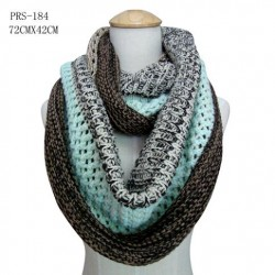 Turquoise/Brown Infinity Scarf