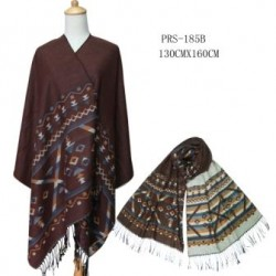 Brown Reversible Poncho