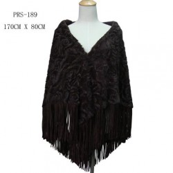 Brown Faux Fur Shawl