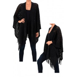 Black Ladies Poncho