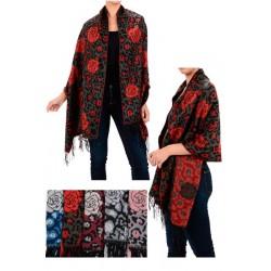 Rose & Leopard Pattern Shawl