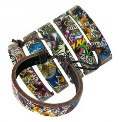 Flash Tattoo Leather Bracelets