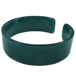 Green Color Faux Turtle Shell Bangle