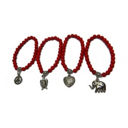 Red Bracelet with Charm