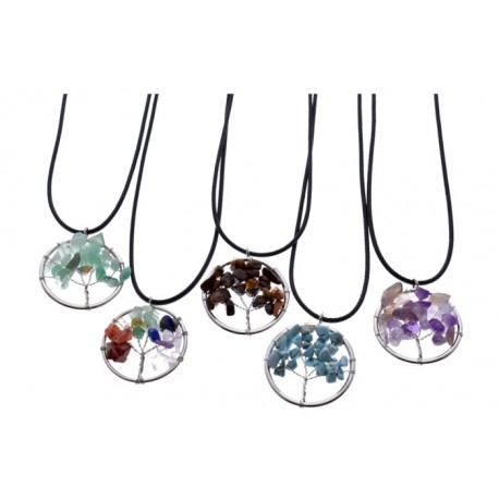 Tree Of Life Stones Necklace