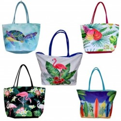Tropical Motif Beach Bags (4 Styles)
