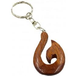 Bayong Wooden Fish Hook Key Chains