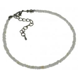2-3MM White Clam Shell Bracelet/Anklet