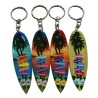 Surf Board Key Chain With Destination Signs