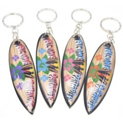 Welcome To Paradise Surf Board Key Chain