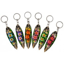 Plumeria Flower Surf Board Key Chains