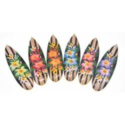 Flash Plumeria Flower Surf Board Magnets