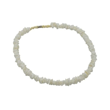 "18"" White Rose Clam Shell Necklace"