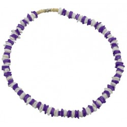 Rose Clam Shell Necklace- White and Purple