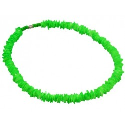 Rose Clam Shell Necklace - Neon Green