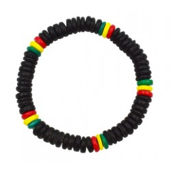 Black Rasta Coconut Bracelet