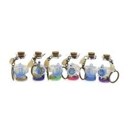Beach Bottles With Nautical Theme Key Chains