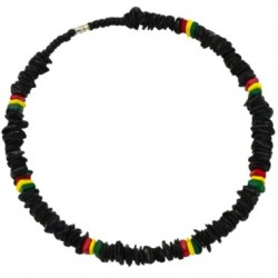 18 INCH Rasta Rose Clam Shell Necklace