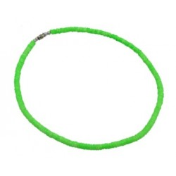 Clam Shell Necklace - Neon Green