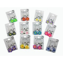Fimo Flower Earrings Hooks