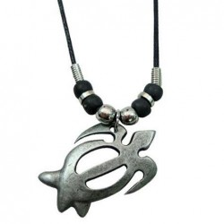 Metal Turtle Pendant Necklace