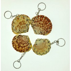Shell Pill Box With Key Chain