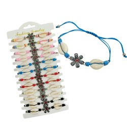 Flower And Cowrie Shell Bracelet