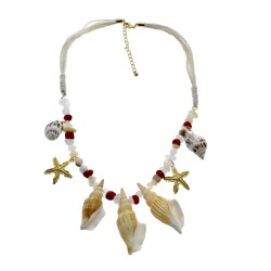 Sea Shell Star Fish Necklace