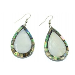 Tear Drop Paua Shell Earring