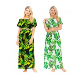 Long Skirt With Matching Top Palm Leaf Motif