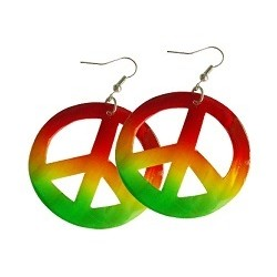 Rasta Shell Peace Earrings