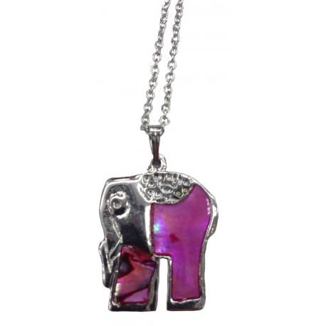Paua Shell Necklace - Elephant