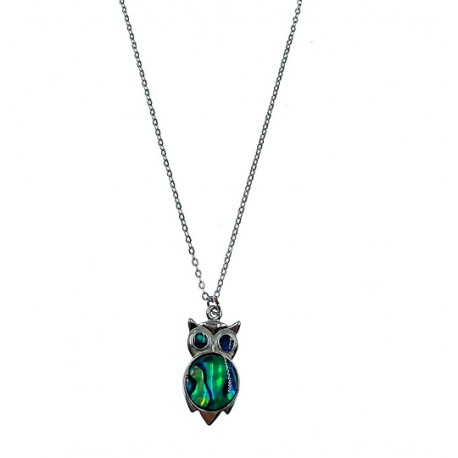 Paua Shell Necklace - Owl Style