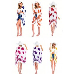 Beach Motif Hibiscus Flower Cover Up