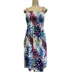 Womens Dress With String Flower Motif