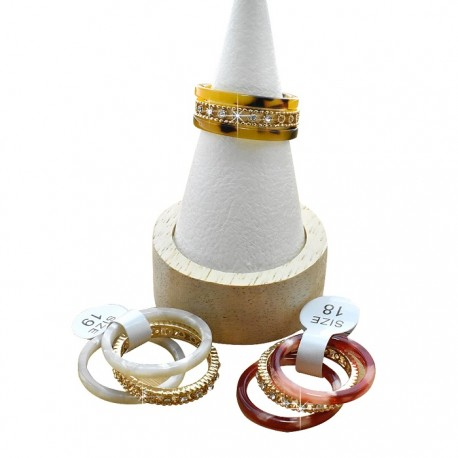 Faux Turtle Shell Rings