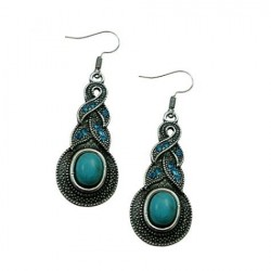 Turquoise Pendant Earrings