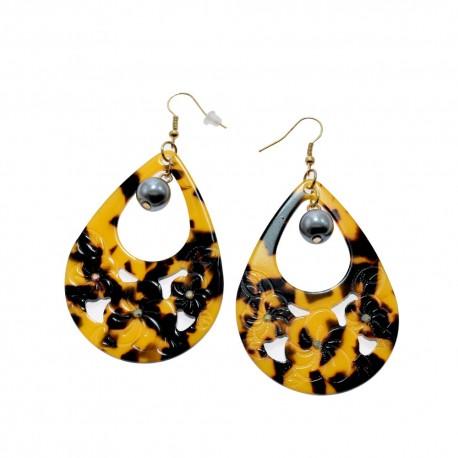 Faux Turtle Shell Earrings