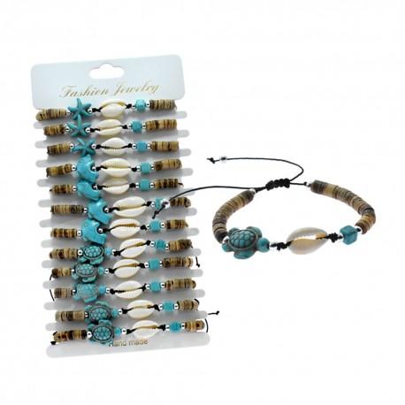 Coconut With Turquoise Stone Bracelet