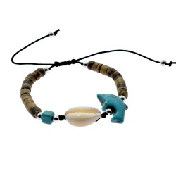 Coconut With Turquoise Stone Bracelet