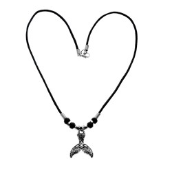Whale Tail Tatoo Pendant Necklace
