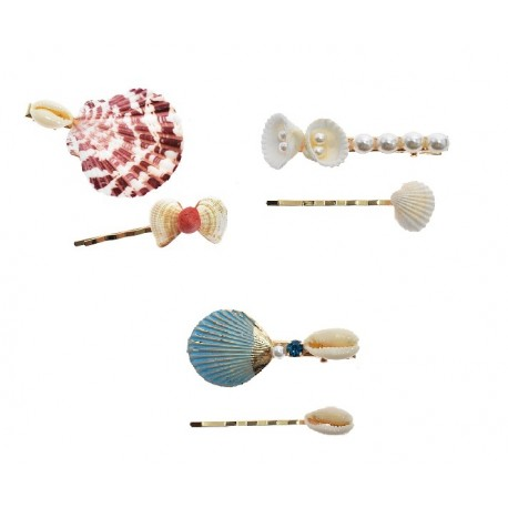 Sea Shell Hair Clips