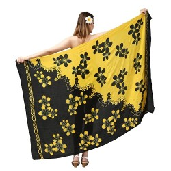 Plumeria Two Tone Color Beach Sarong