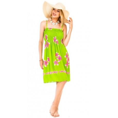 Plumeria Flower Summer Dress