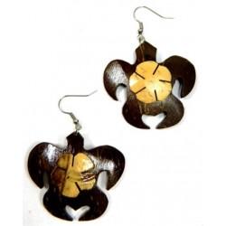 Samoan Style Turtle Coconut Earrings